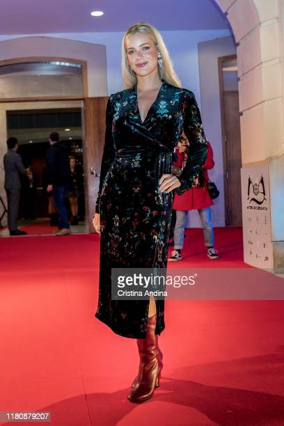 Actress Alejandra Onieva attends Alta Mar second season preview by Netflix at Noia Festival at the hometown of its creator Ramon Campos on November 8...