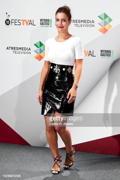 Actress Alejandra Onieva attends 'Presunto Culpable' photocall at Palacio de Congresos Europa during the FesTVal 2018 on September 5 2018 in...