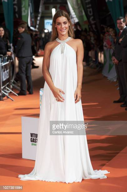 Actress Alejandra Onieva attends 'Presunto Culpable' premiere at the Principal Teather during the FesTVal 2018 on September 5 2018 in VitoriaGasteiz...