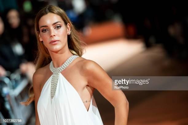 Actress Alejandra Onieva attends to orange carpet of 'Presuntos Culpables' during FestVal in Vitoria Spain on September 05 2018