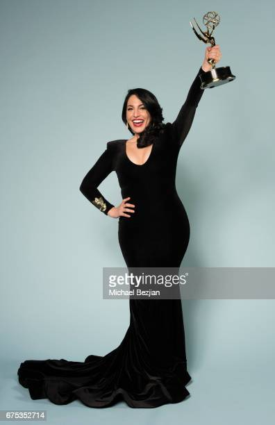 Actress Alejandra Oraa poses for portraits at The 44th Daytime Emmy Awards Portraits by The Artists Project Sponsored by Foster Grant on April 30...