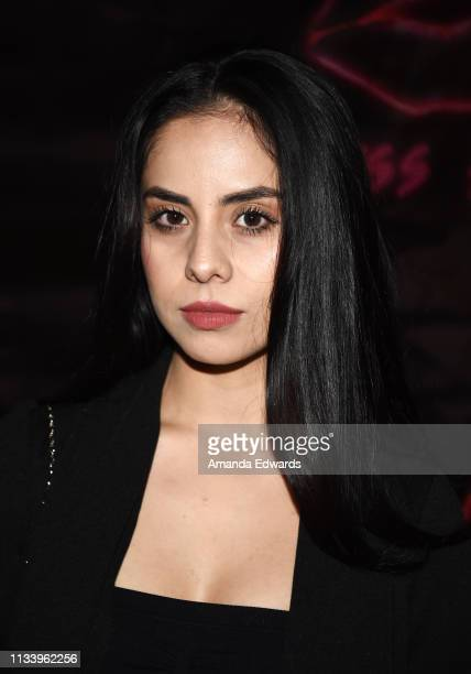 Actress Alejandra Pulido arrives at the Los Angeles premiere of 'KISS KISS' at the Ahrya Fine Arts Theater by Laemmle on March 05 2019 in Beverly...