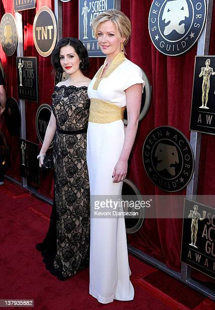 Actress Aleksa Palladino and actress Gretchen Mol arrive at the 18th Annual Screen Actors Guild Awards at The Shrine Auditorium on January 29 2012 in...