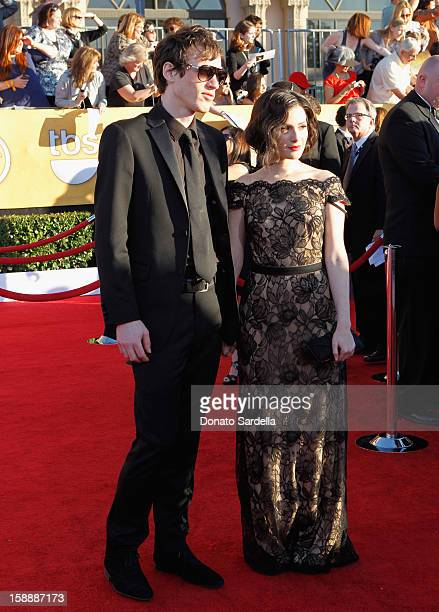 Actress Aleksa Palladino and guest arrive at the 18th Annual Screen Actors Guild Awards held at The Shrine Auditorium on January 29 2012 in Los...