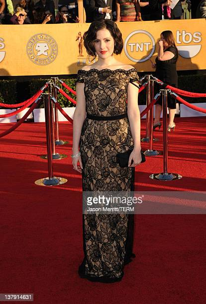 Actress Aleksa Palladino arrives at the 18th Annual Screen Actors Guild Awards at The Shrine Auditorium on January 29 2012 in Los Angeles California