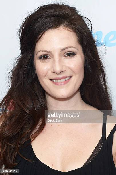 Actress Aleksa Palladino arrives at 'Wedlock' premiere party at Ace Hotel on September 25 2014 in Los Angeles California