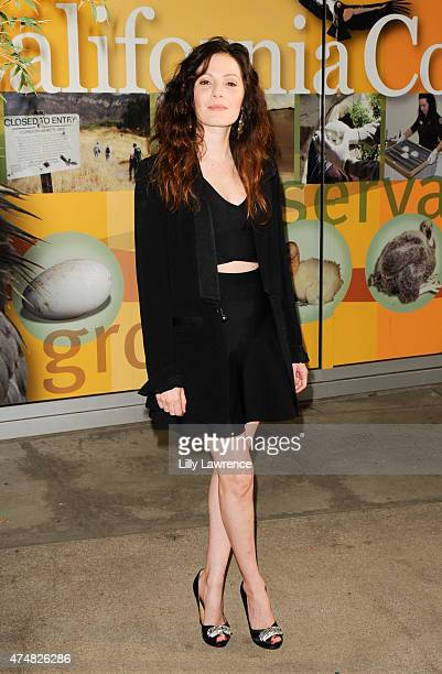 Actress Aleksa Palladino attends KCETLink presents The Green Carpet World Premiere and Panel Discussion Of EARTH FOCUS 'Illicit Ivory' Hosted By...