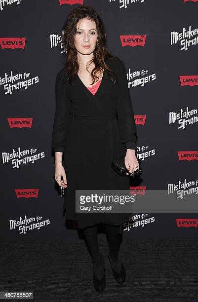 Actress Aleksa Palladino attends the 'Mistaken For Strangers' screening at Sunshine Landmark on March 26 2014 in New York City