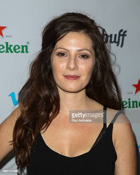 Actress Aleksa Palladino attends the party for Vimeo on demand's new webseries 'Wedlock' at the Ace Hotel on September 25 2014 in Los Angeles...