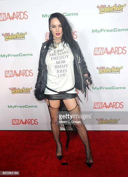 Actress Alektra Blue arrives at the 2017 Adult Video News Awards held at the Hard Rock Hotel Casino on January 21 2017 in Las Vegas Nevada