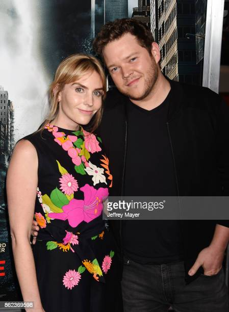 Actress Aleque Reid and actor Harry Ford attend the premiere of Warner Bros Pictures' 'Geostorm' at the TCL Chinese Theatre on October 16 2017 in...