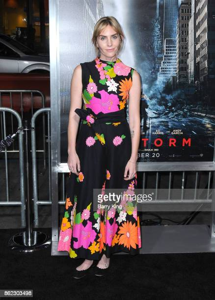 Actress Aleque Reid attends the premiere of Warner Bros Pictures' 'Geostorm' at TCL Chinese Theatre on October 16 2017 in Hollywood California