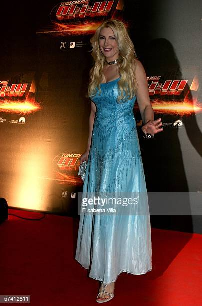 Actress Alessandra Canale arrives at the World Premiere of 'Mission Impossible III' at Cinema Adriano on April 24 2006 in Rome Italy