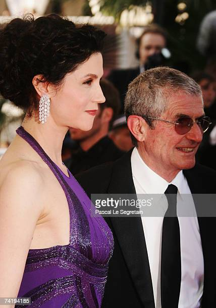 "Actress Alessandra Martines and director Claude Lelouch attend the premiere of the movie ""No Country For Old Men"" at the Palais des Festivals during..."