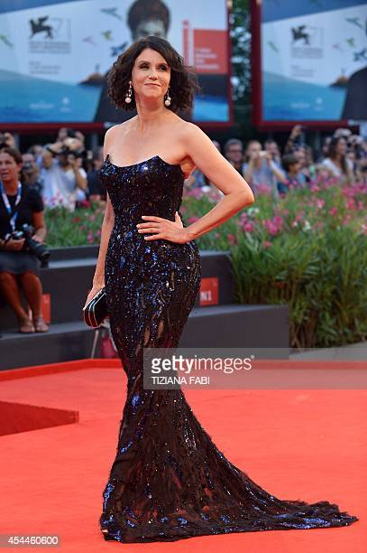 Actress Alessandra Martines arrives for the screening of the movie 'Hungry Hearts' presented in competition at the 71st Venice Film Festival on...