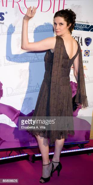 Actress Alessandra Martines attends 'Premio Afrodite' Women In Film And Television International Award at Studios De Paolis on April 7 2009 in Rome...