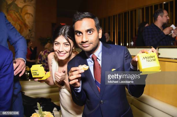 Actress Alessandra Mastronardi and Cocreator Executive Producer and Actor Aziz Ansari attend the Netflix Master Of None S2 Premiere NY Screening 2017...