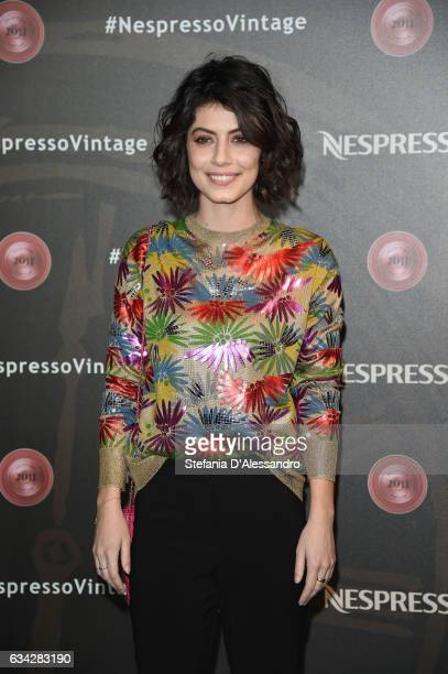 Actress Alessandra Mastronardi attends a photocall for Nespresso on February 8 2017 in Milan Italy