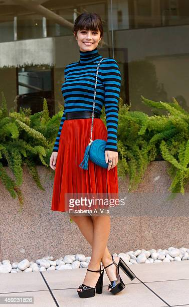 Actress Alessandra Mastronardi attends 'Ogni Maledetto Natale' photocall at Hotel Visconti on November 19 2014 in Rome Italy