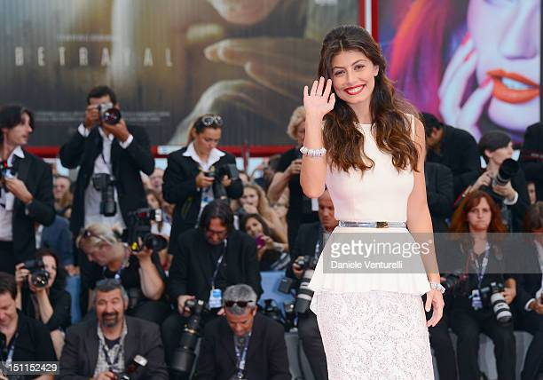 Actress Alessandra Mastronardi attends 'To The Wonder' Premiere during The 69th Venice Film Festival at the Palazzo del Cinema on September 2 2012 in...