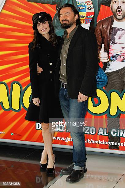 "Actress Alessandra Mastronardi with Enrico Lando attends ""Friends as we"" photocall in Rome - Cinema Adriano"