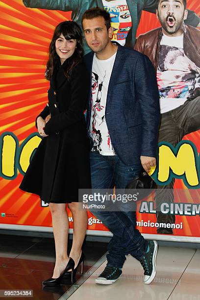 "Actress Alessandra Mastronardi with Pio D'Antini attends ""Friends as we"" photocall in Rome - Cinema Adriano"