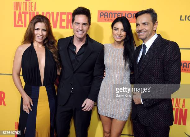 Actress Alessandra Rosaldo actor Mauricio Ochmann actress Aislinn Derbez and actor Eugenio Derbez attend premiere of Pantelion Films' 'How To Be A...