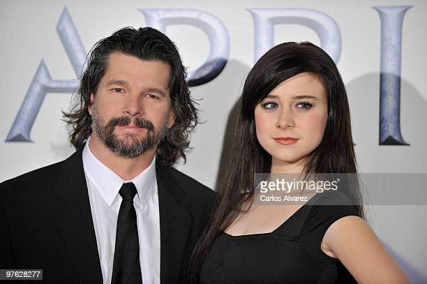 """Actress Alessandra Torresani and producer Ronald Moore present """"Caprica"""" at the Lara Theater on March 11, 2010 in Madrid, Spain."""