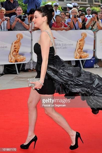 Actress Alessandra Torresani arrives at the Closing Ceremony of the 2010 Monte Carlo Television Festival held at Grimaldi Forum on June 10 2010 in...