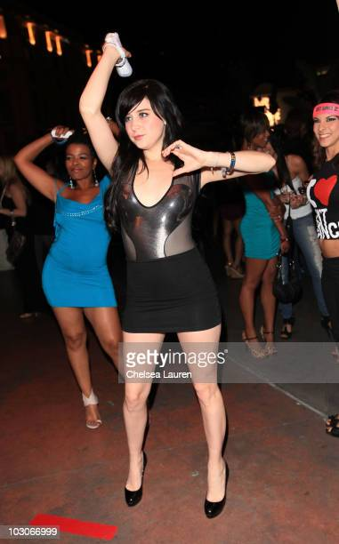 Actress Alessandra Torresani attends the Ubisoft launch of 'Just Dance 2' with Maxim at ComicCon 2010 at Hotel Solamar on July 23 2010 in San Diego...