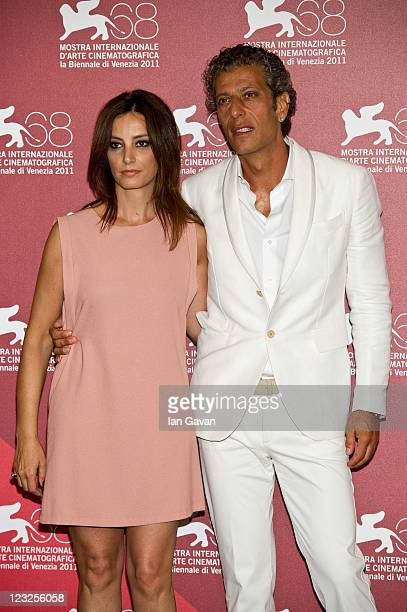 Actress Alessia Barela and actor Antonio Merone poses at the Summer Games photocall during the 68th Venice Film Festival at Palazzo del Cinema on...