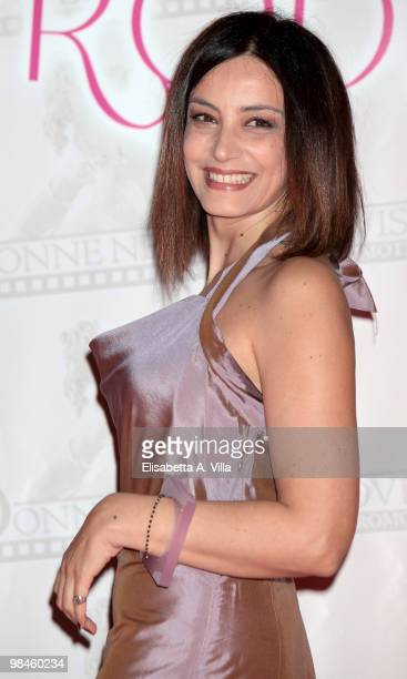 Actress Alessia Barela attends the 2010 Premio Afrodite at the Studios on April 14 2010 in Rome Italy