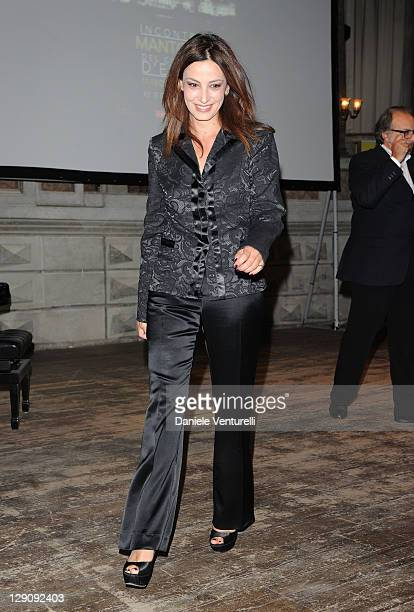 Actress Alessia Barela attends the 2011 Premi Fice at the Teatro Bibiena on October 12 2011 in Mantova Italy