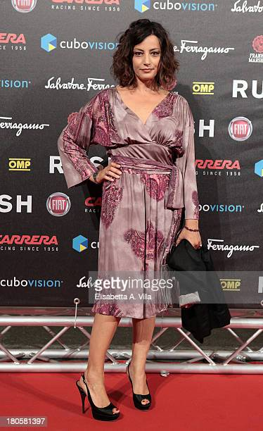 Actress Alessia Barela attends the 'Rush' premiere at Auditorium della Conciliazione on September 14 2013 in Rome Italy