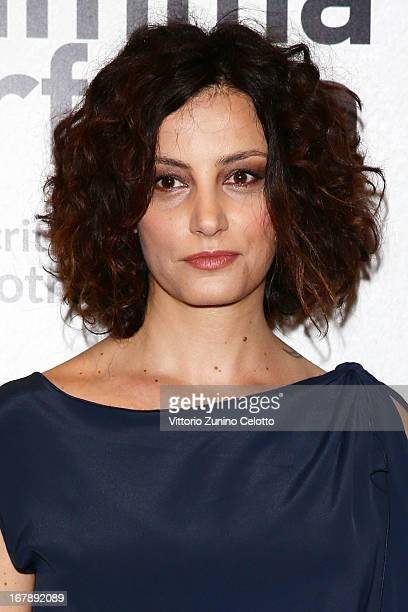 Actress Alessia Barela attends Una mamma imperfetta photocall on May 2 2013 in Milan Italy
