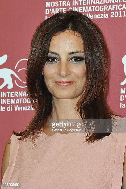 Actress Alessia Barela poses at the Summer Games photocall during the 68th Venice Film Festival at Palazzo del Cinema on September 1 2011 in Venice...