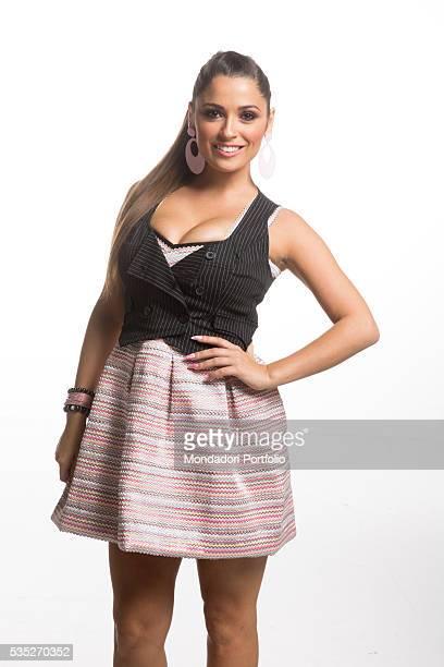 Actress Alessia Macari as La Ciociara in TV quiz Avanti un altro 9th April 2015