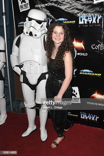 Actress Alex Ann Hopkins arrives for Heavy Metal Magazine's 35th Anniversary Party Day 1 of ComicCon International 2012 held at The Haunted Hotel on...
