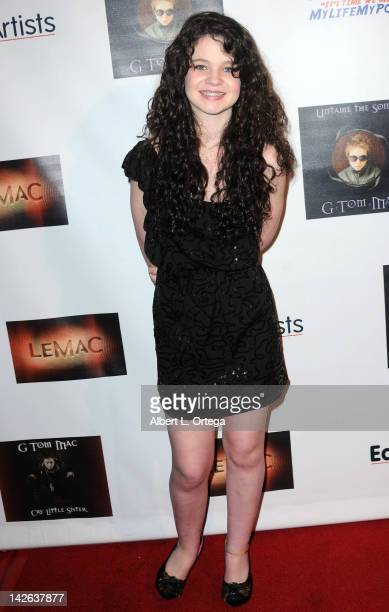 Actress Alex Ann Hopkins arrives for the G Tom Mac CD Release Party For Untame The Songs held at Rolling Stone Restaurant Lounge on April 9 2012 in...