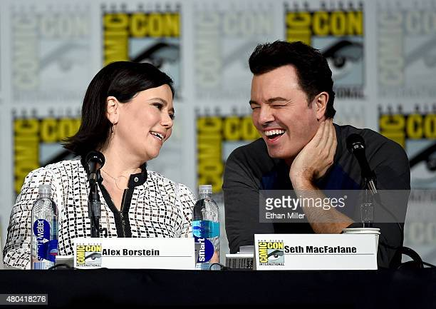 Actress Alex Borstein and filmmaker Seth MacFarlane attend the Seth MacFarlane Animation Block panel during ComicCon International 2015 at the San...