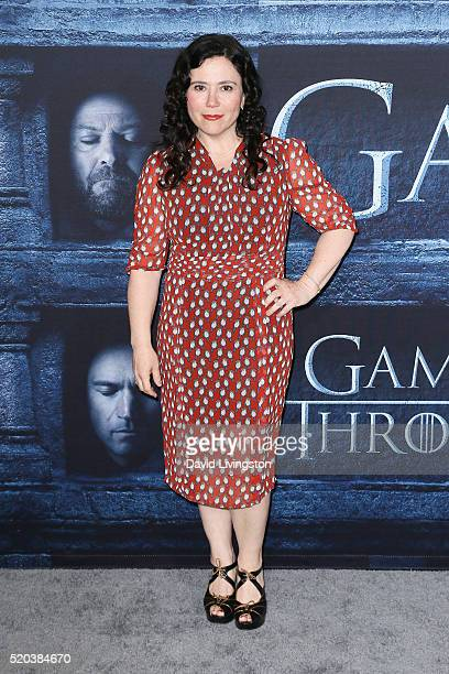 Actress Alex Borstein arrives at the premiere of HBO's 'Game of Thrones' Season 6 at the TCL Chinese Theatre on April 10 2016 in Hollywood California