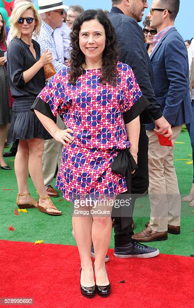 Actress Alex Borstein arrives at the premiere of Sony Pictures' 'The Angry Birds Movie' at Regency Village Theatre on May 7 2016 in Westwood...