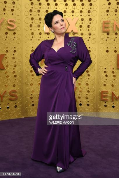 Actress Alex Borstein arrives for the 71st Emmy Awards at the Microsoft Theatre in Los Angeles on September 22, 2019.