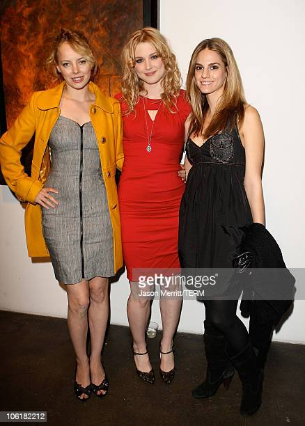 Actress Alex Breckenridge and Bijou Phillips attend the Bryten Goss 2008 Memorial Exhibition at Bergamot Station on February 21 2008 in Santa Monica...