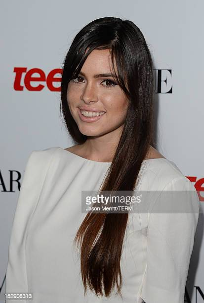 Actress Alex Frnka arrives at Teen Vogue's 10th Anniversary young Hollywood party on September 27 2012 in Beverly Hills California