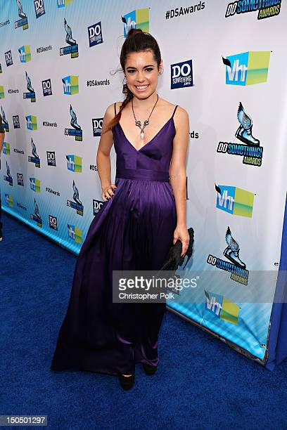 Actress Alex Frnka arrives at the 2012 Do Something Awards at Barker Hangar on August 19 2012 in Santa Monica California