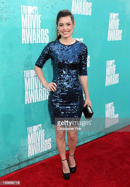 Actress Alex Frnka arrives at the 2012 MTV Movie Awards held at Gibson Amphitheatre on June 3 2012 in Universal City California