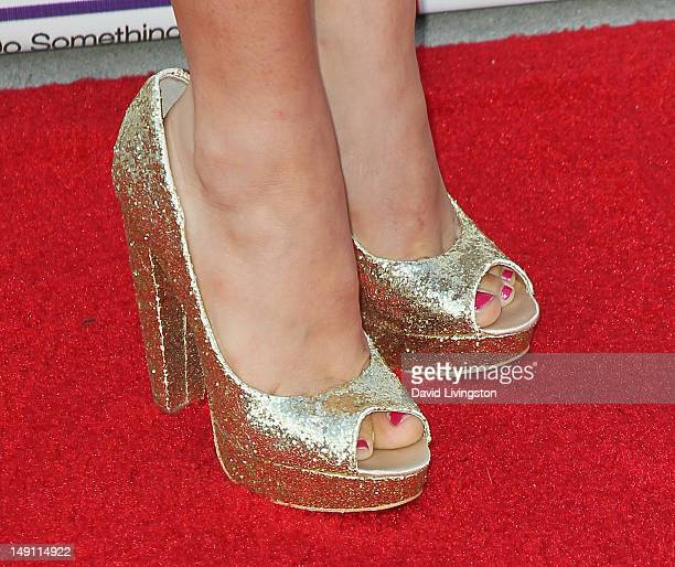 Actress Alex Frnka attends the 2012 Staples For Students 'Party' For A Cause hosted by Staples DoSomethingorg and Bella Thorne at the Globe Theatre...