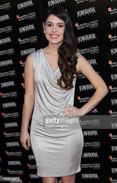 Actress Alex Frnka attends the 6th Annual Hamilton Behind The Camera Awards presented by Los Angeles Confidential Magazine at the House of Blues...