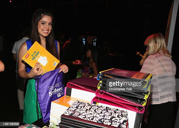 Actress Alex Frnka attends the Staples DoSomethingorg Bella Thorne Party for the 5th Staples for Students School Supply Drive benefiting students in...